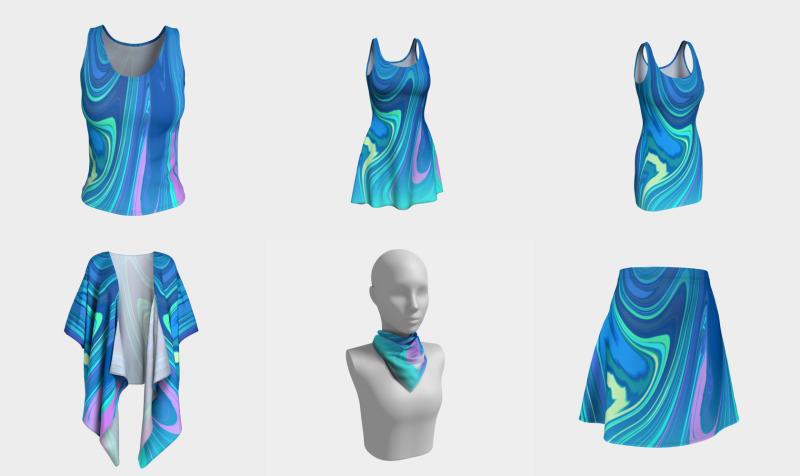 Aperçu de Blue Ice - Cool Abstract Design