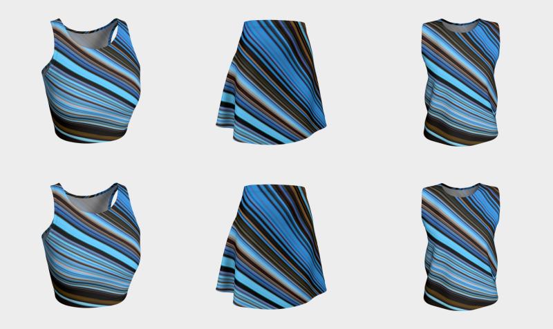 Aperçu de Ozone Breath - Cool Striped Design