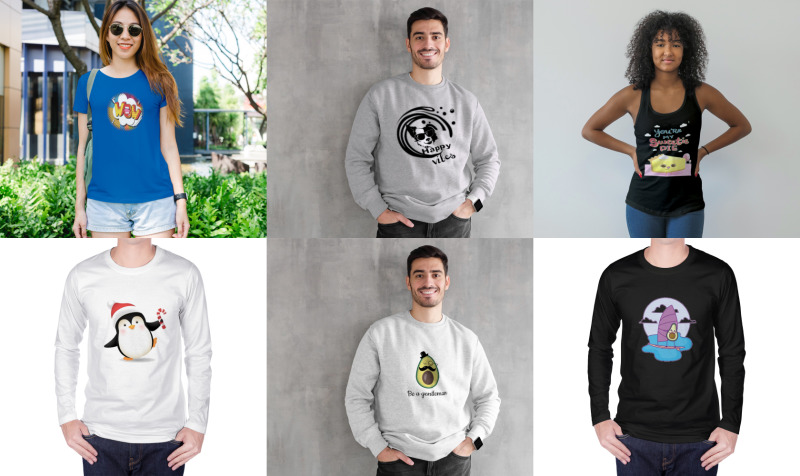 Aperçu de Fitness Men & Women Sweatshirts-Tshirts