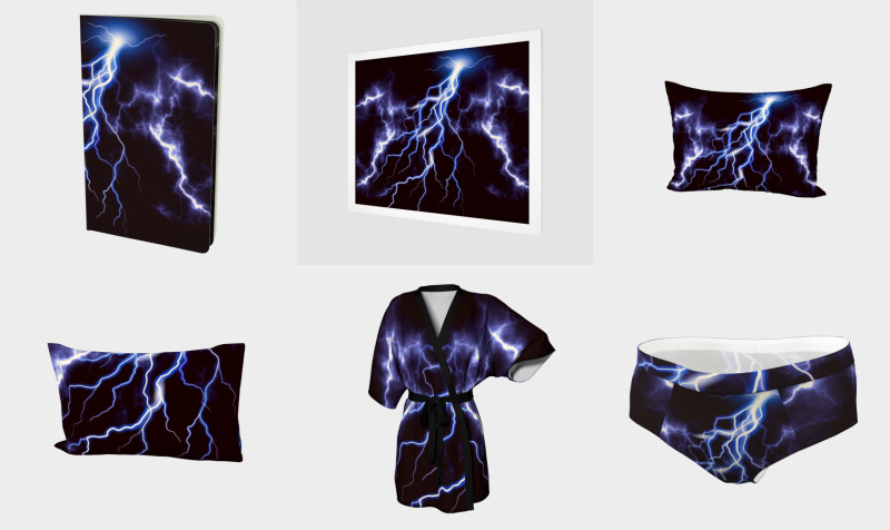 Blue Thunder Colorful Lightning graphic preview