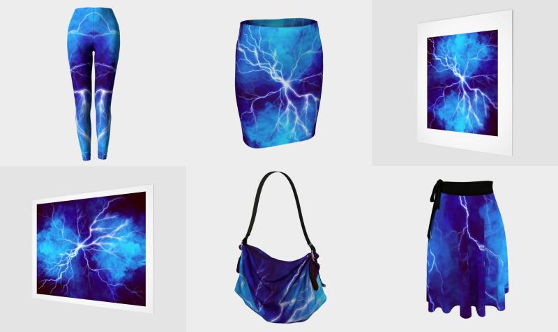 Blue Lightning thunder bold, graphic design preview