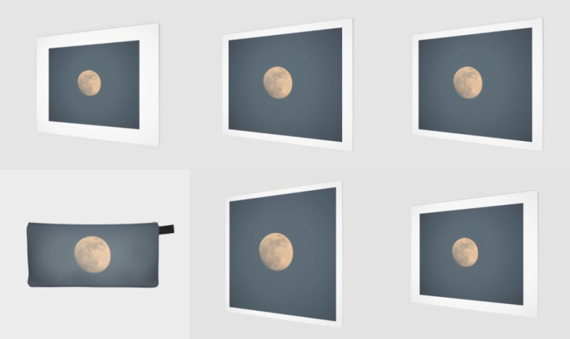 Moon and blue sky preview