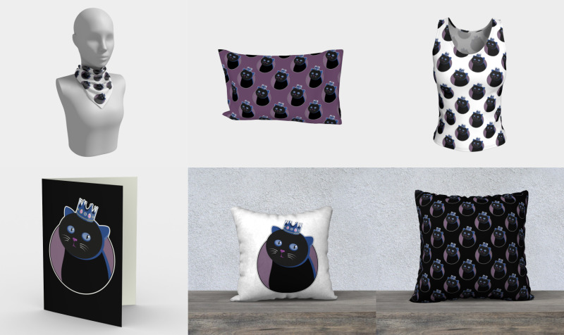 Aperçu de Lovely Black Crowned Cat