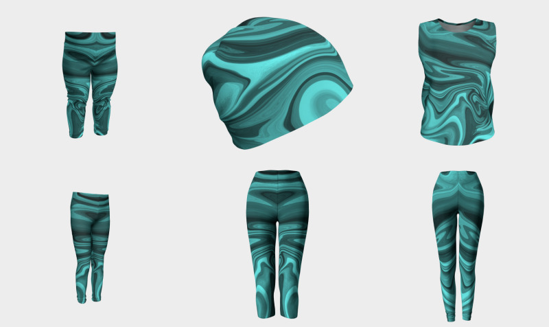 Teal Twirl preview