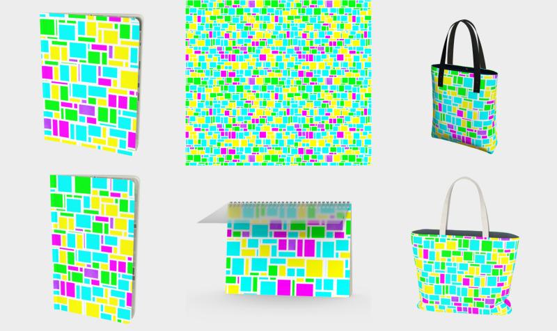 Vibrant Mondrian preview