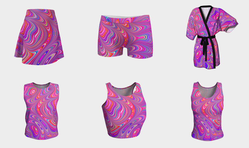 Colorful Trippy Groovy Swirls preview