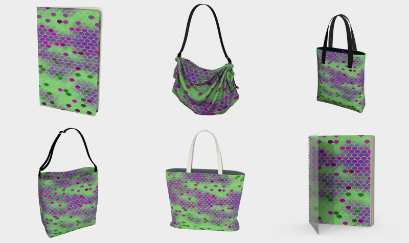 Green and Purple Mermaid Scales preview