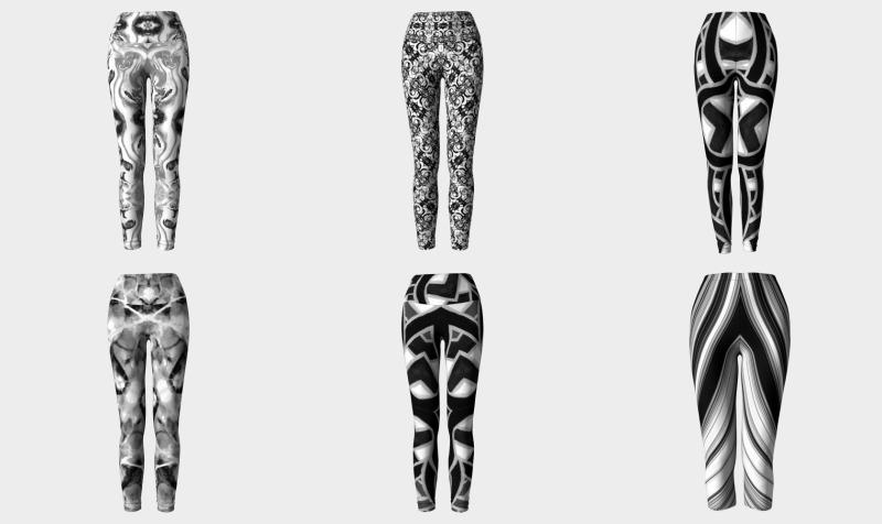 Aperçu de All Black & White Leggings, Capris, & Yoga Bottoms