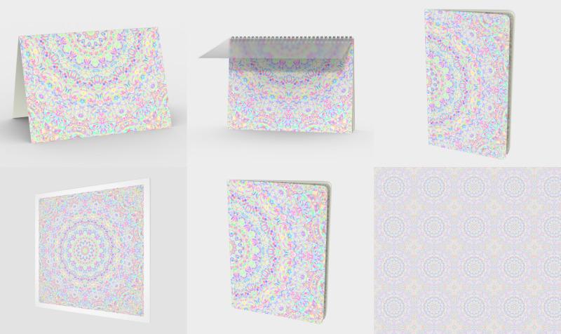 Psychedelic Boho Pastel Rainbow Mandala preview