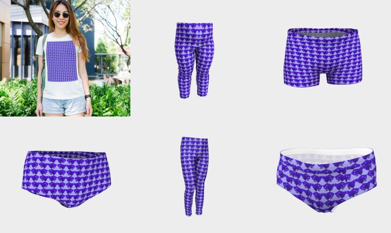 Aperçu de Purple birdy pattern