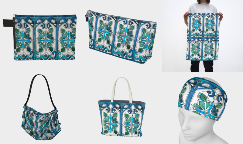 Aperçu de Turquoise Art Nouveau