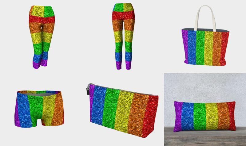 LGBT flag vibrant rainbow glitter sparkles preview