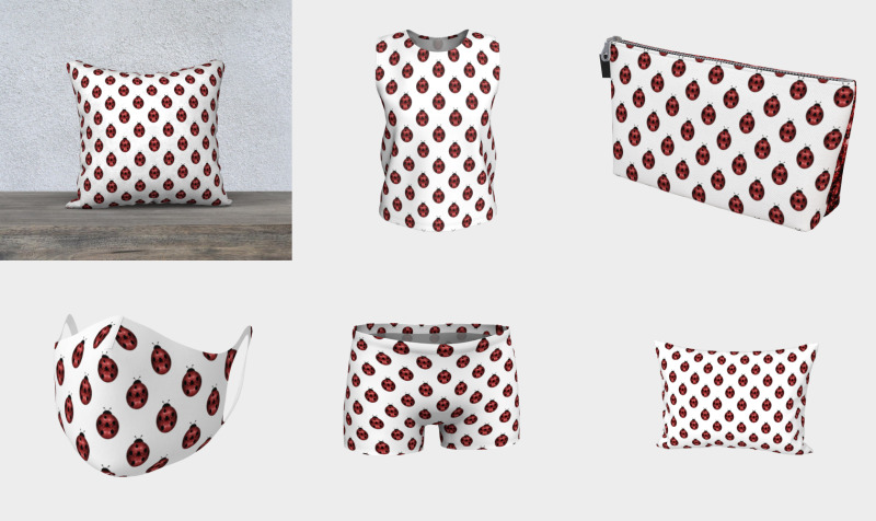 Sparkly red Ladybug pattern preview