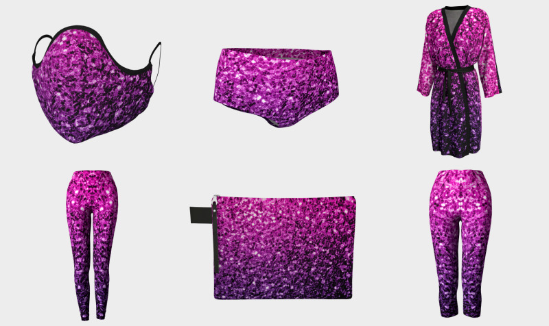 Beautiful Purple Pink Ombre glitter sparkles preview
