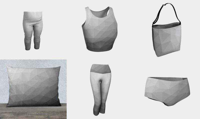 Grey Gradient Geometric Mesh Pattern preview