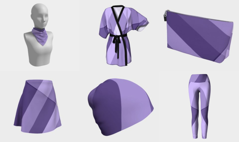 Ultra violet purple modern geometric lines preview
