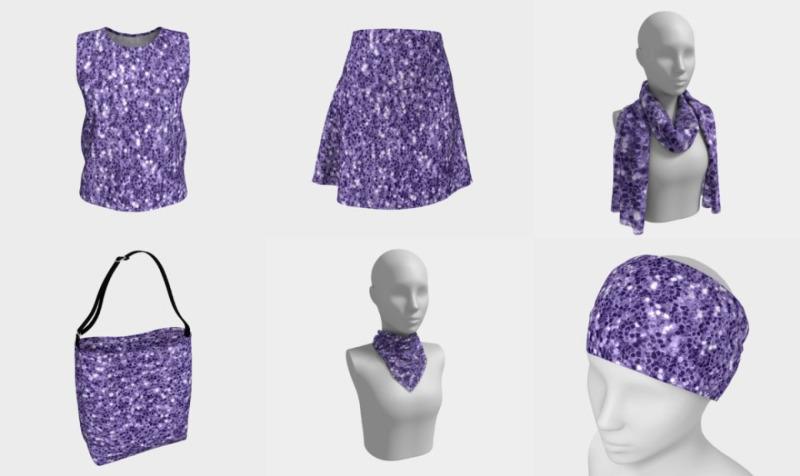 Ultra violet purple glitter sparkles preview