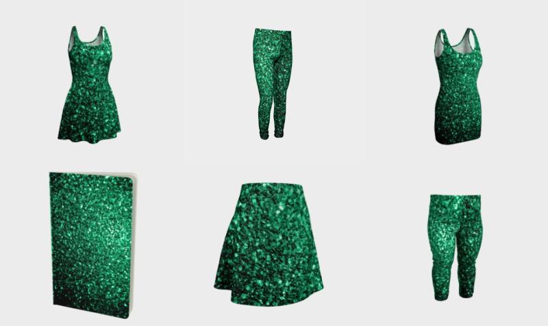 Beautiful Emerald Green glitter sparkles  preview