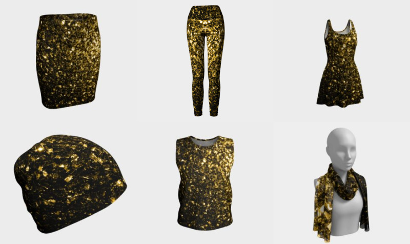 Beautiful Yellow Gold sparkles preview
