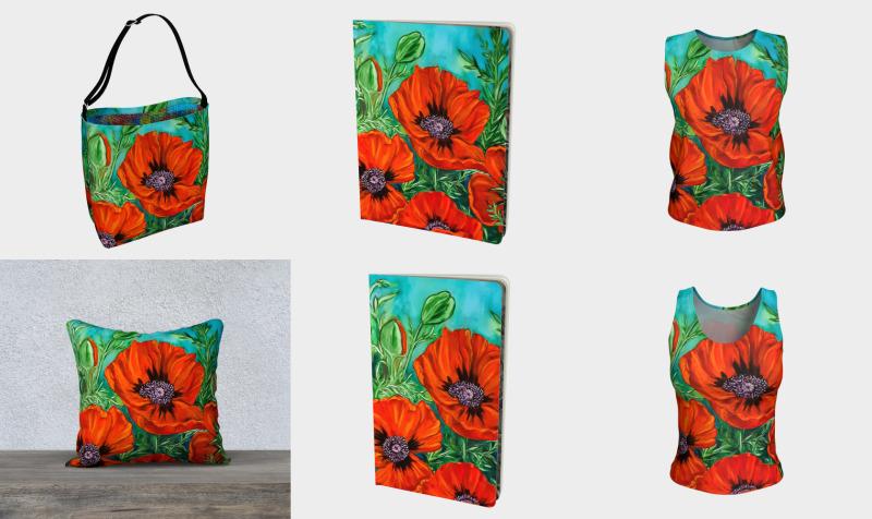Aperçu de Big Bold Red Poppies