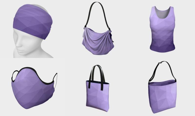 Ultra violet purple geometric mesh preview