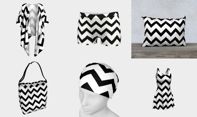 Simple Black and white Chevron pattern preview