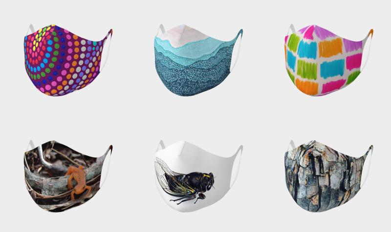Aperçu de double knit face coverings to wear over kn95 masks