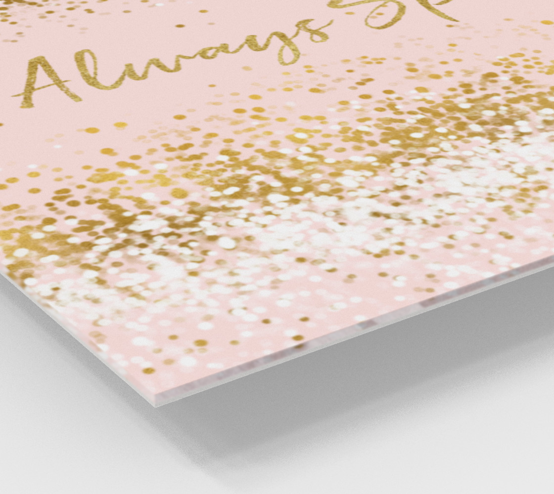 Blush Pink White Gold Confetti Always Sparkle preview #2