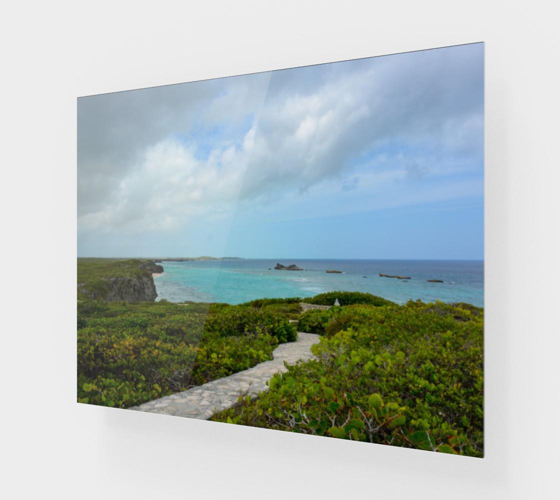 Aperçu de Path to the Secret Beach at Mudjin Harbor on Middle Caicos Wall Art #1