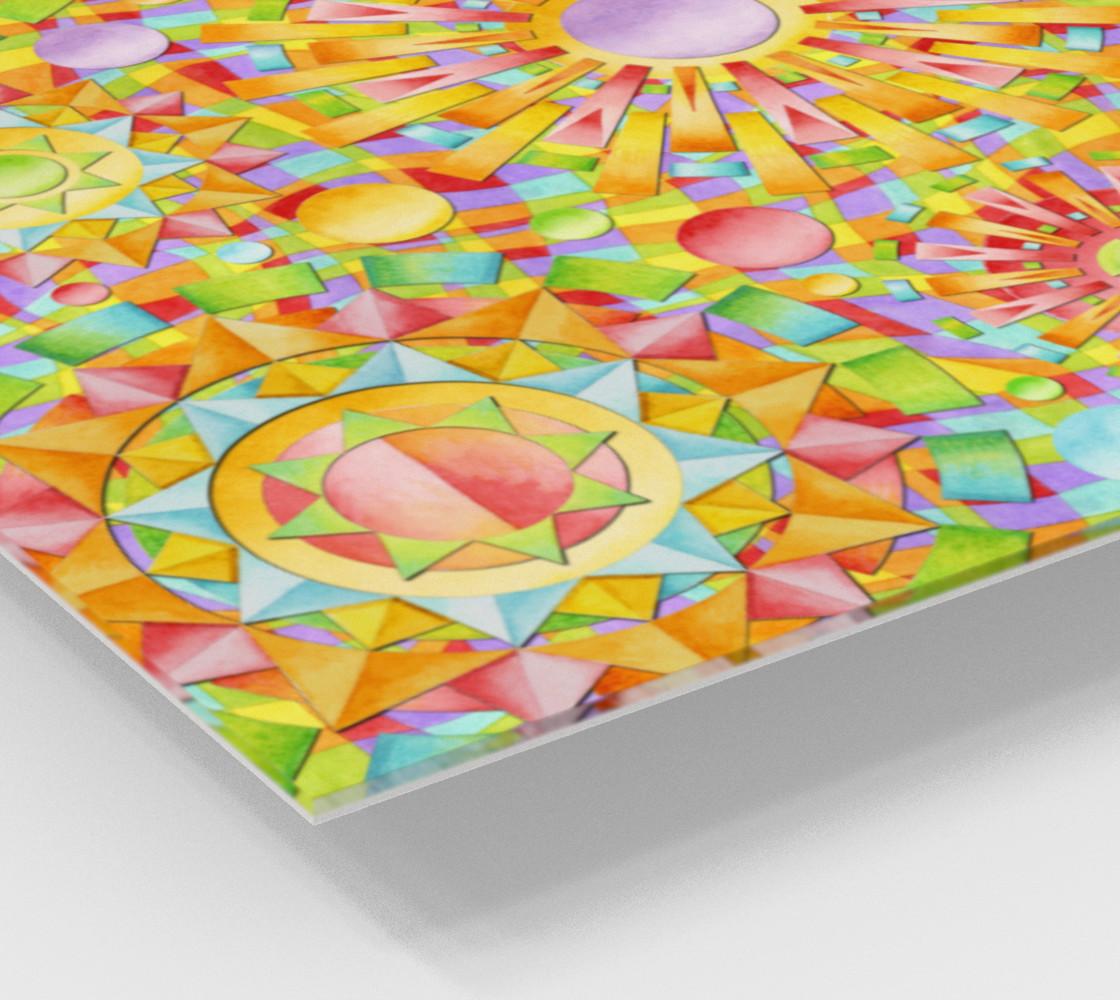 Candy Rainbow Mandala Wood Print preview #2