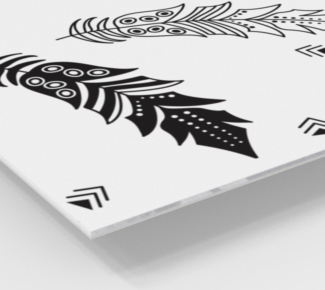 Black & White Feather Wall Art preview #2