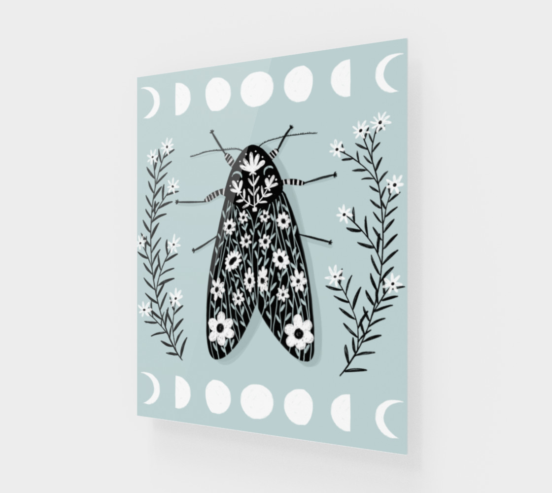Moon Moth Art Print 16 x 20 Miniature #2