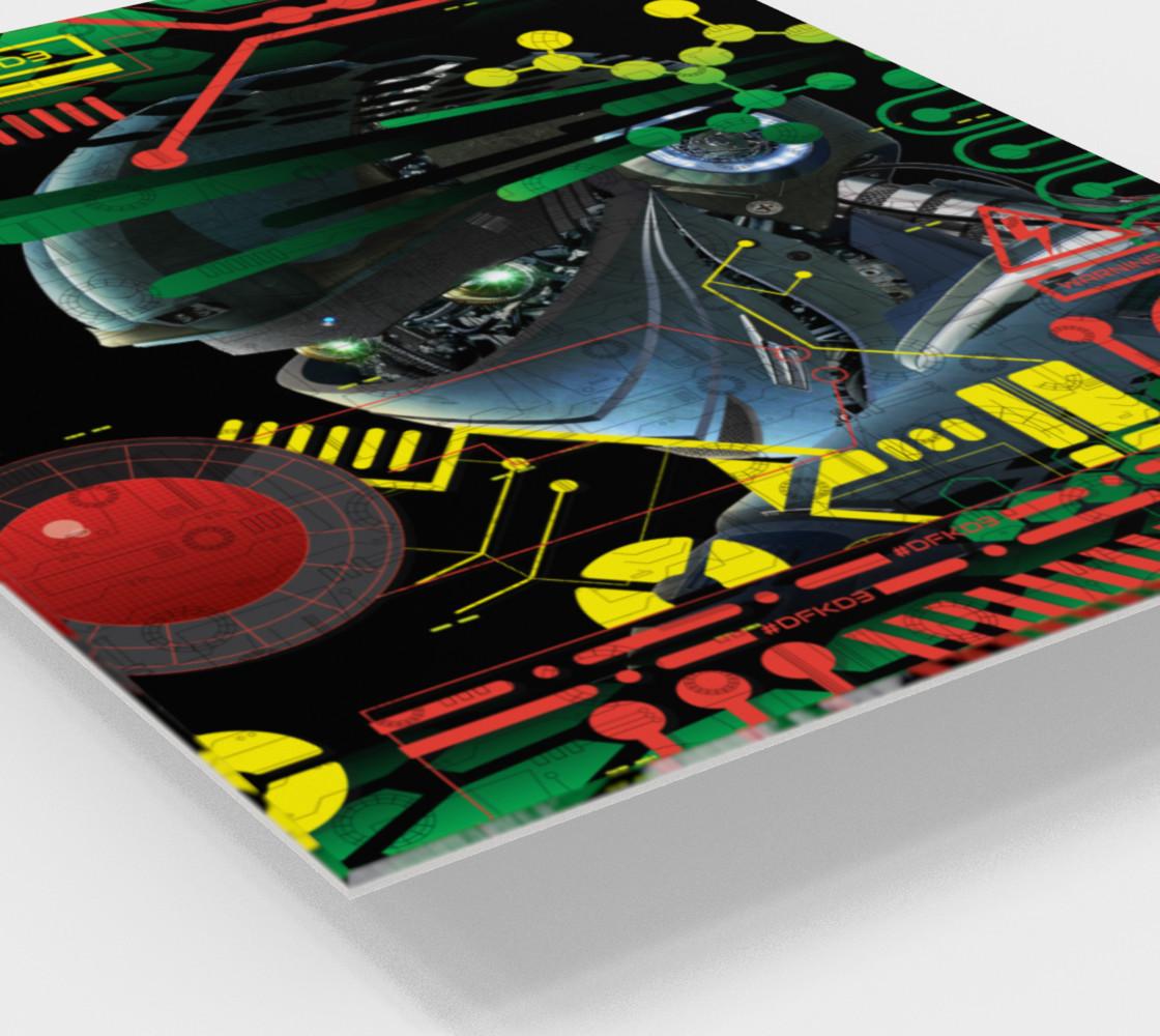 Aperçu de Futuristic Sci-Fi Techno Robot Wall Art #2