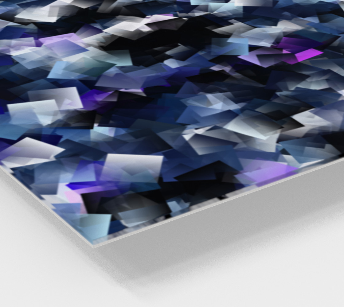 Moody Blue And Purple Cubes  preview #2