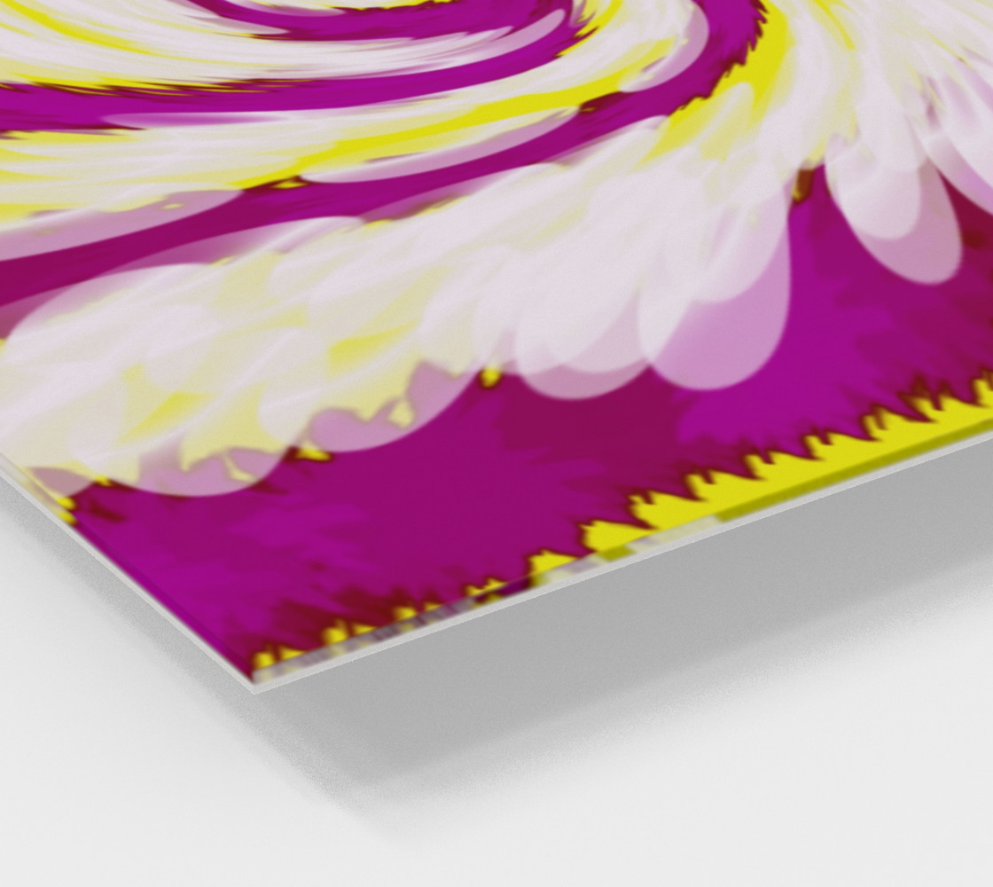 Bright Pink Yellow Swirl Abstract preview #2