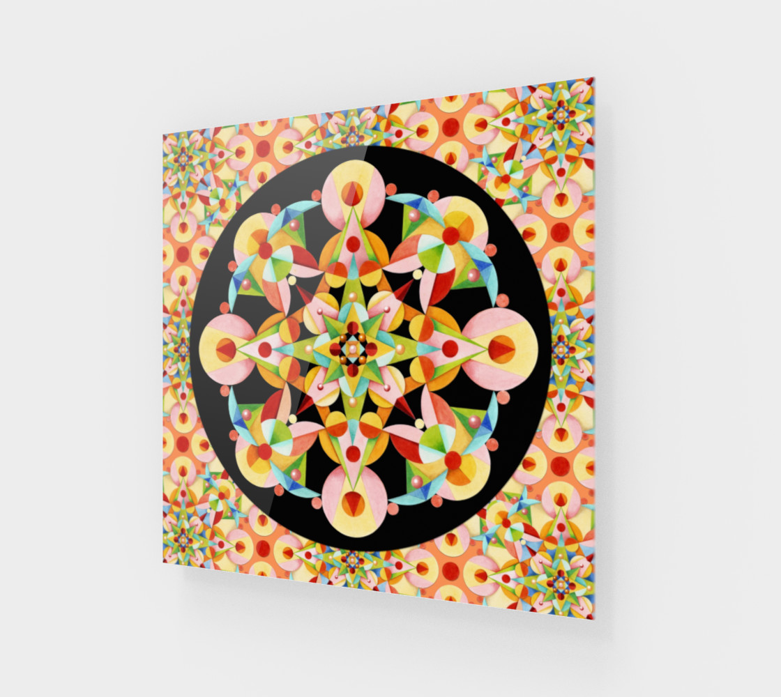 Aperçu de Pastel Carousel Black Circle #1