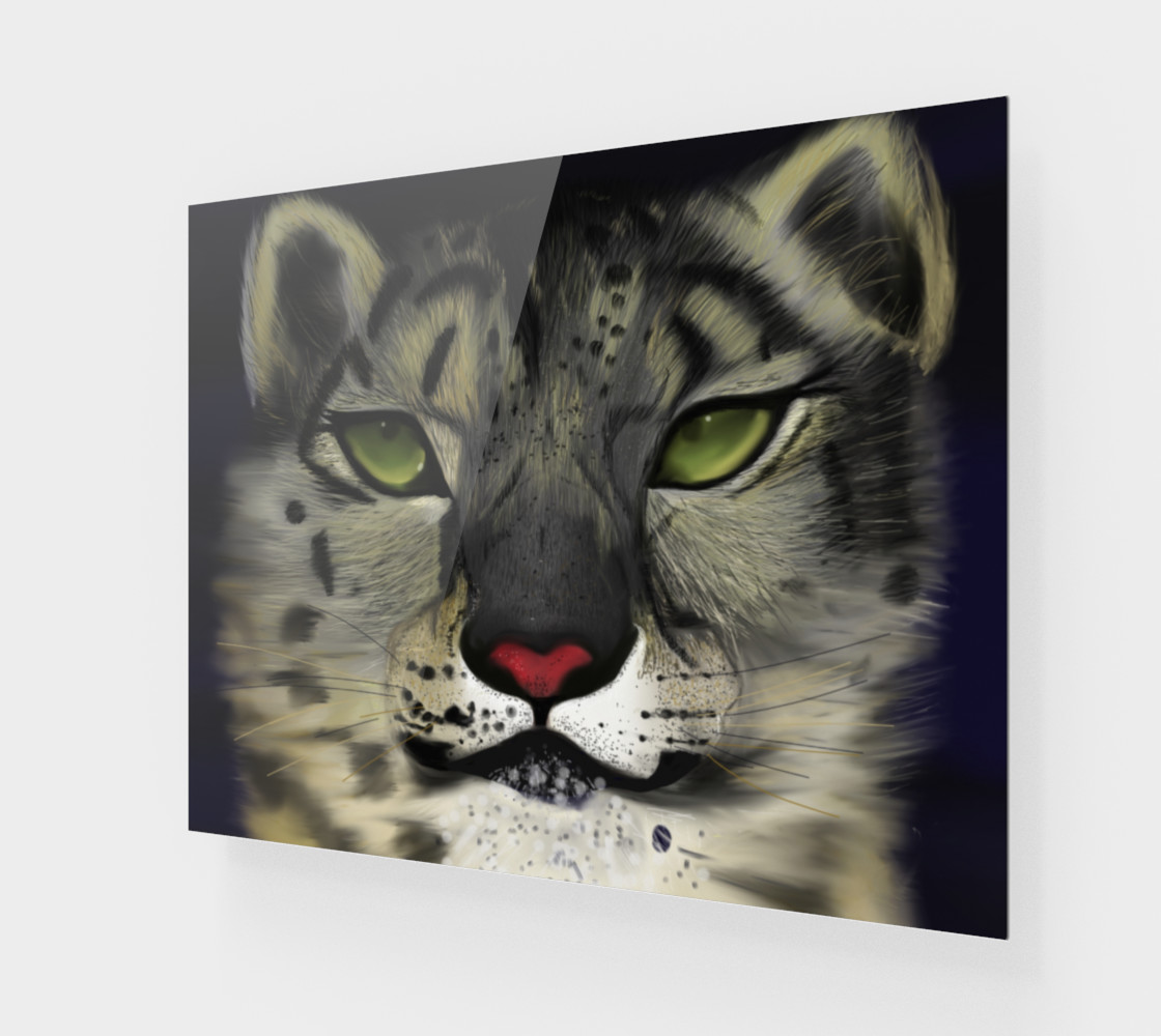 "Snow Leopard Wall Art 20"" x 16"" preview #1"