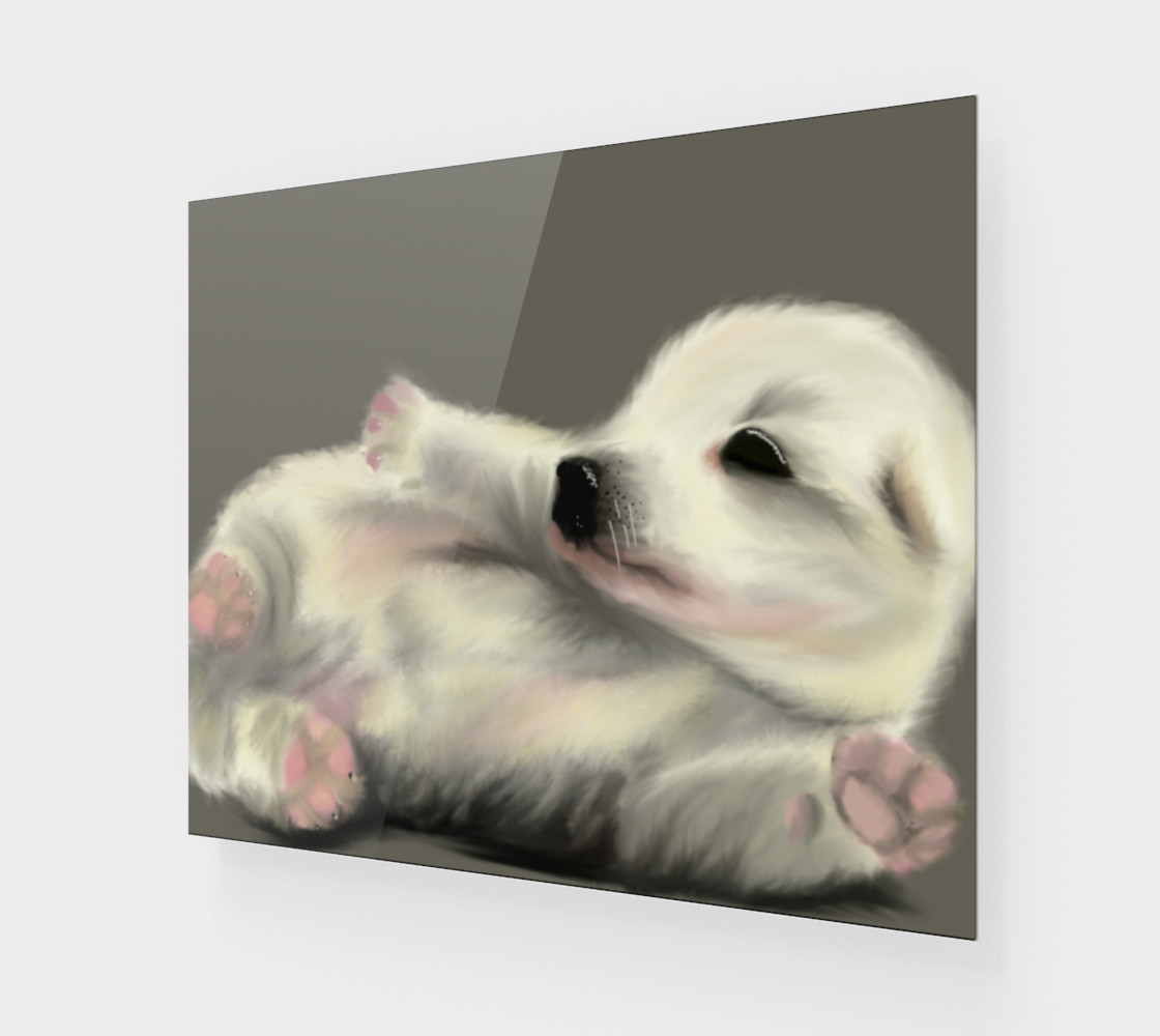 """Adorable Puppy Wall Art 24"""" x 20"""" preview #1"""