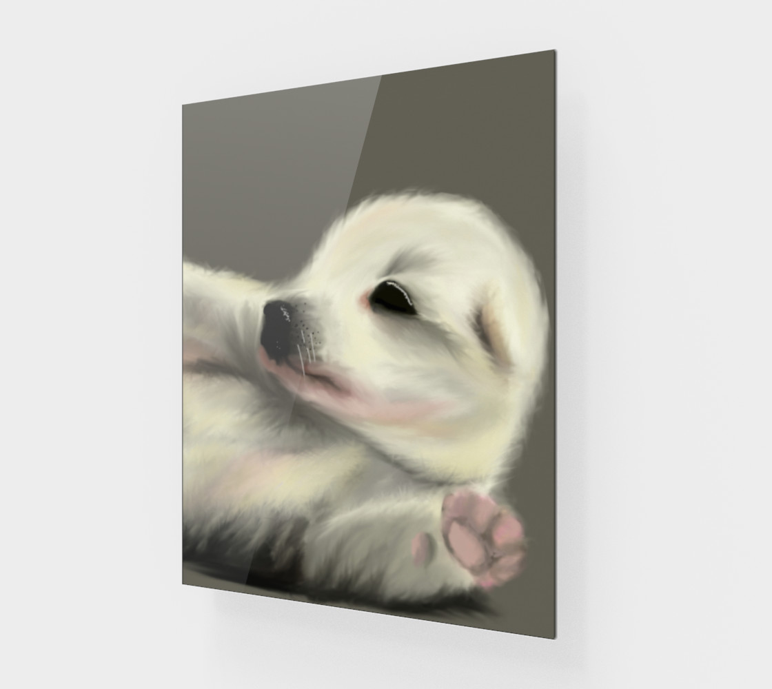 """Adorable Puppy Wall Art 11"""" x 14"""" preview #1"""