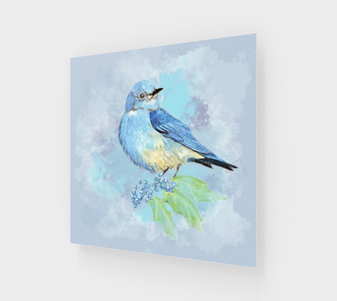 Watercolor Bluebird Blue Bird Nature Art preview #1