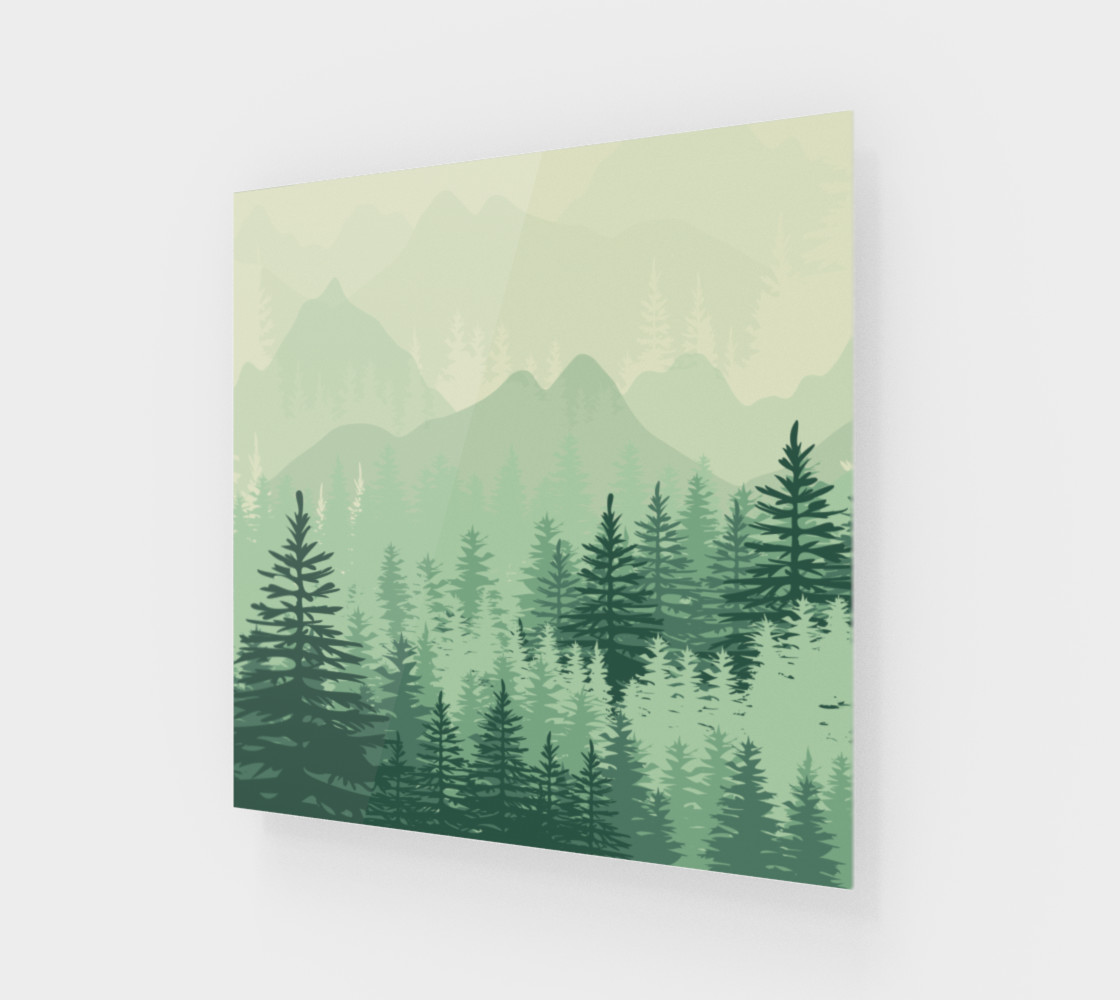 Forest Pine Art Print preview #1