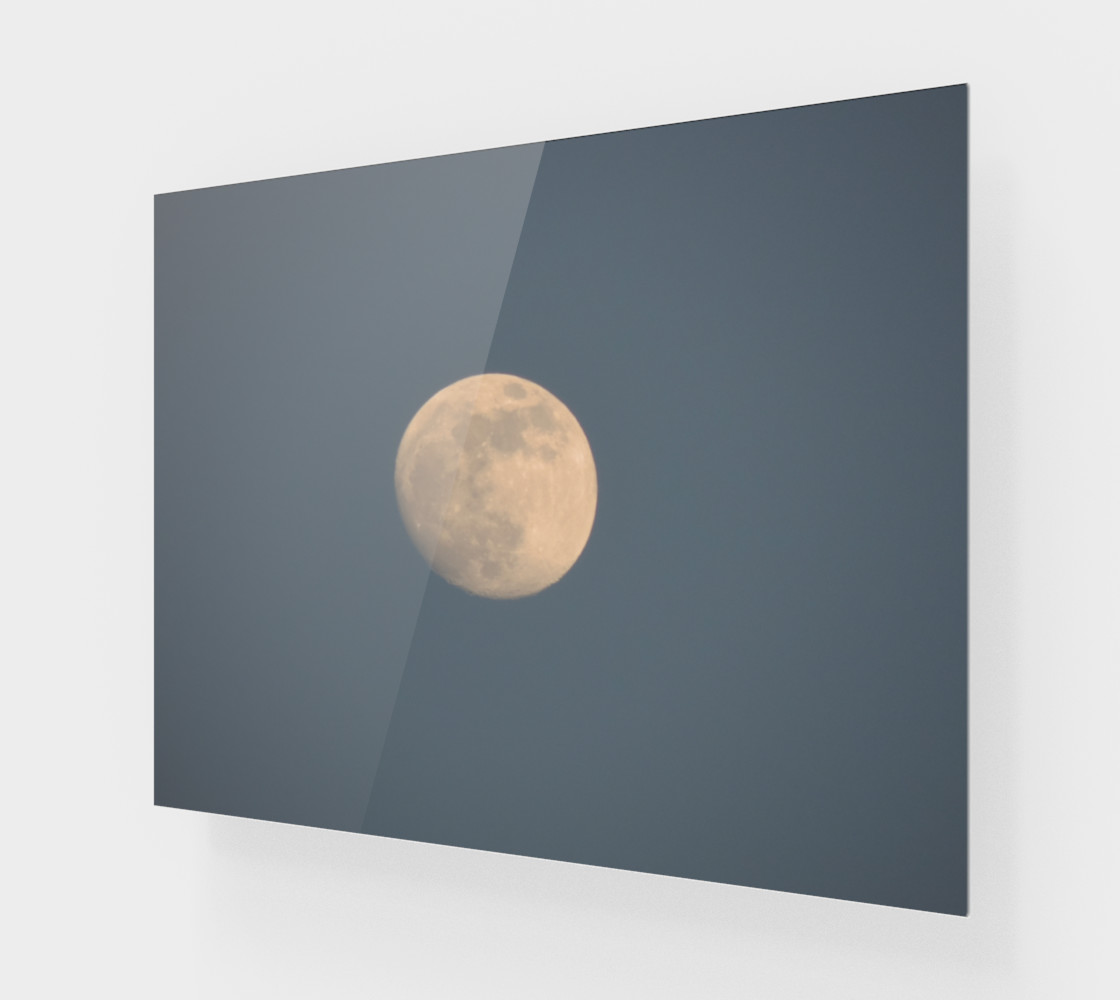 Aperçu de Moon and blue sky Art Print #1