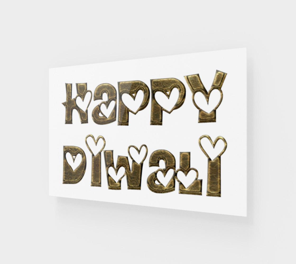 Aperçu de Festival of Lights Happy Diwali Greeting Typography #1