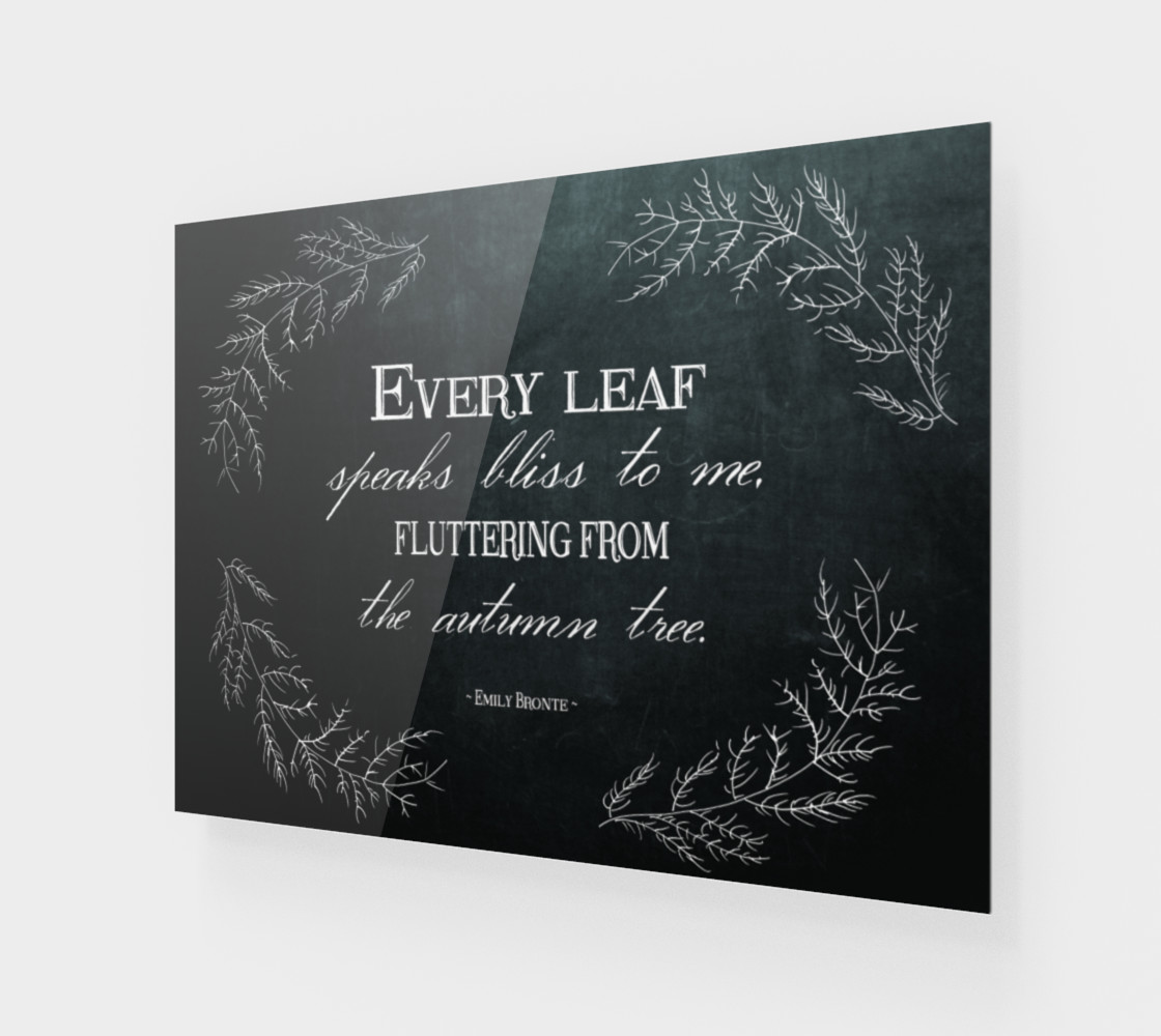 Aperçu de Autumn Quote by Emily Bronte #1