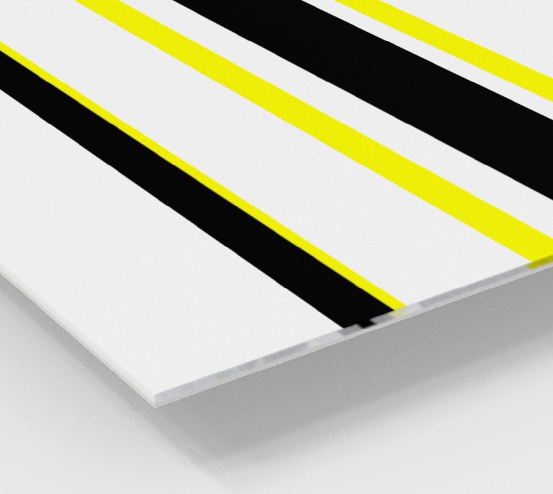 Aperçu de Black Yellow and White Stripes #2