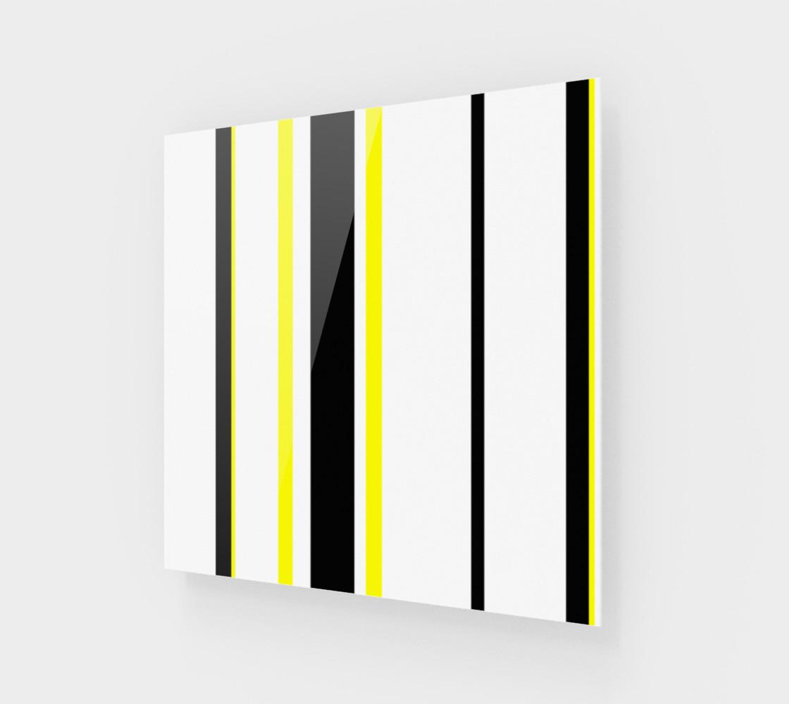 Aperçu de Black Yellow and White Stripes #1
