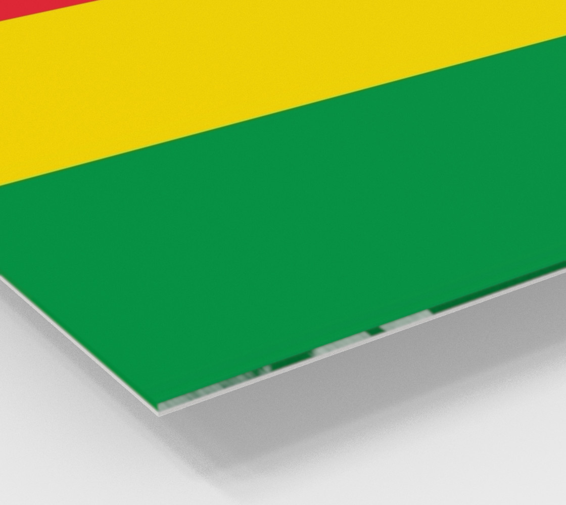 Rasta Colors Green Yellow Red Stripes Pattern preview #2