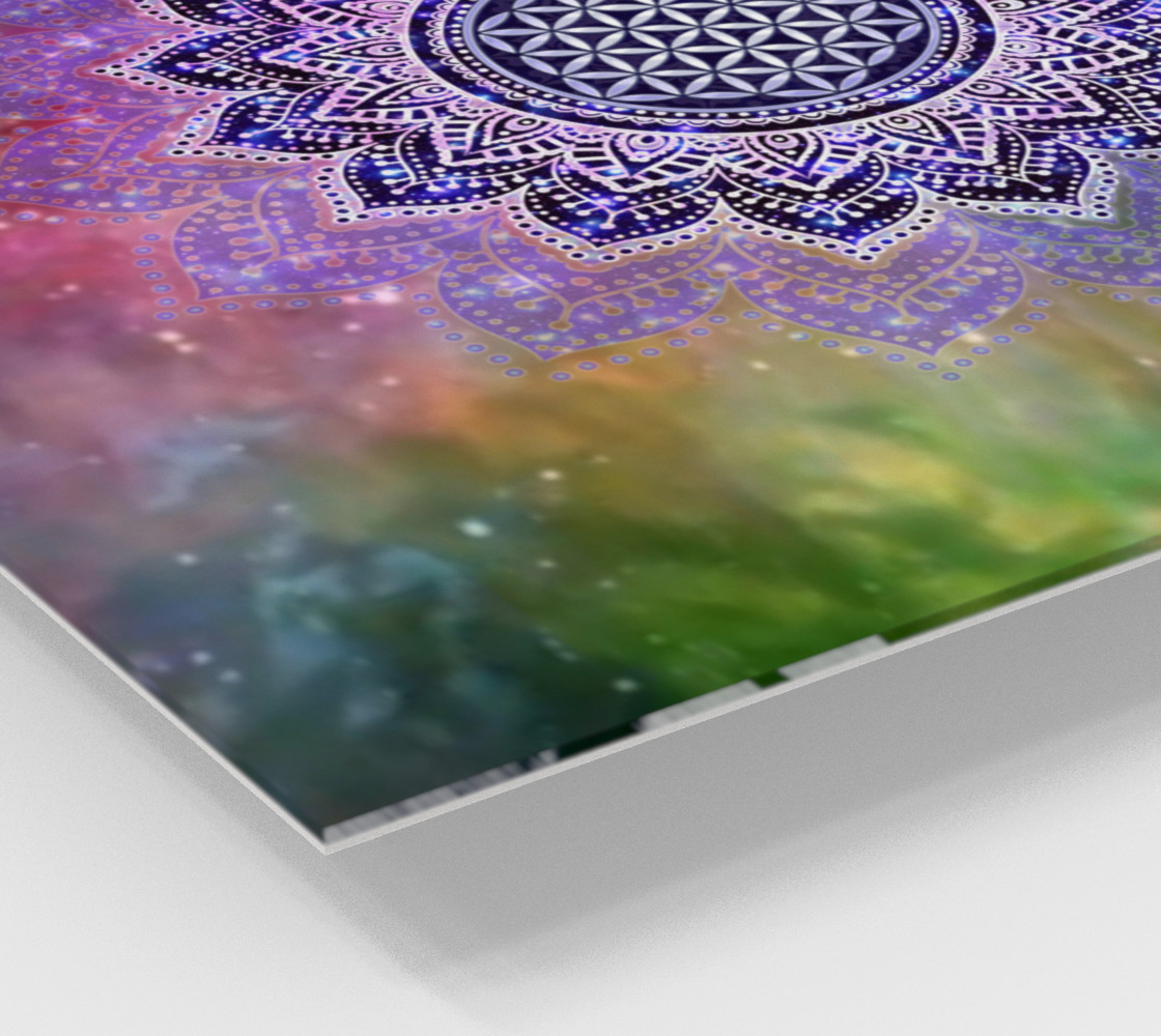 Flower Of Life - Lotus Of India - Galaxy Colored print IV preview #2