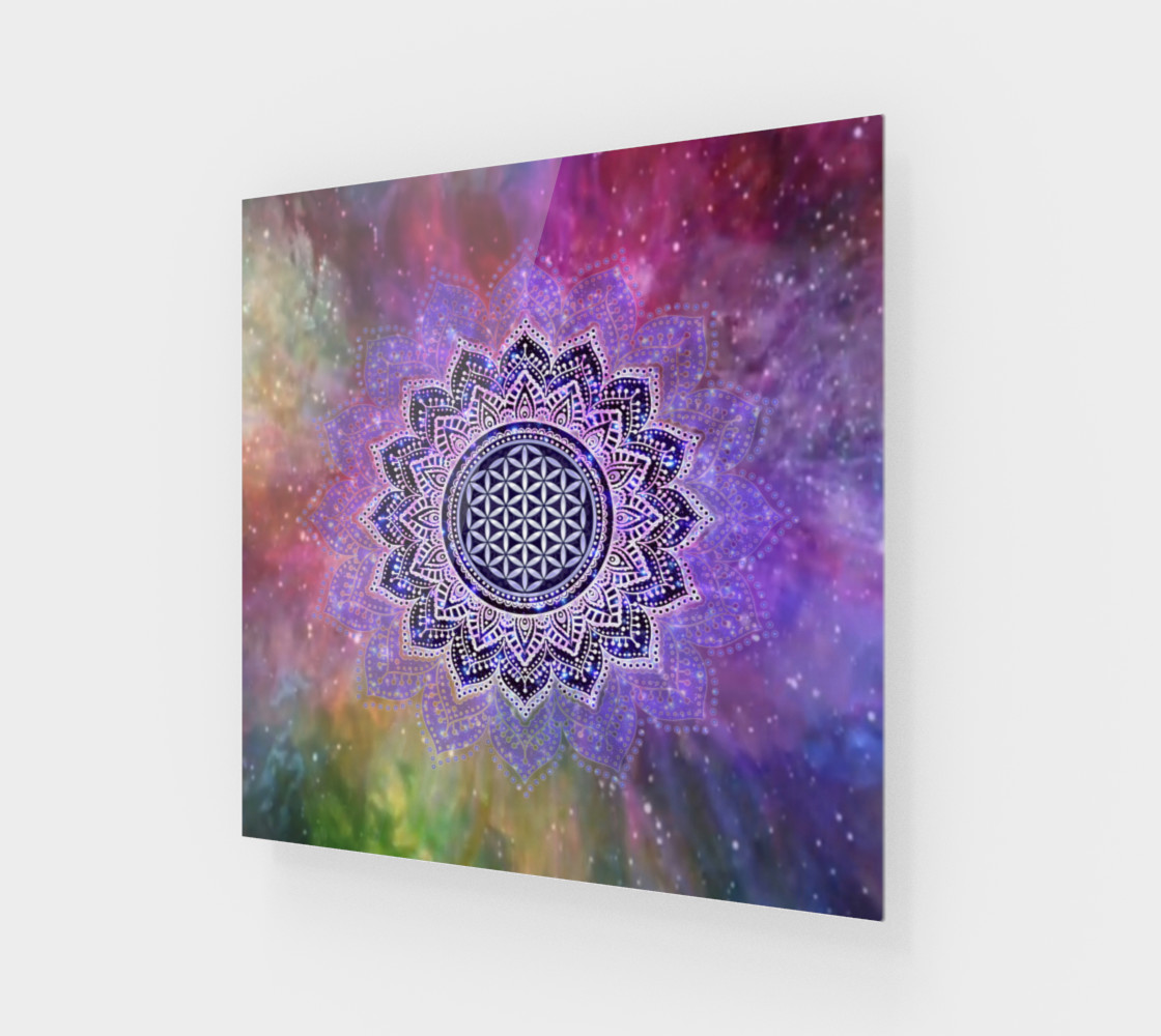 Flower Of Life - Lotus Of India - Galaxy Colored print IV preview #1