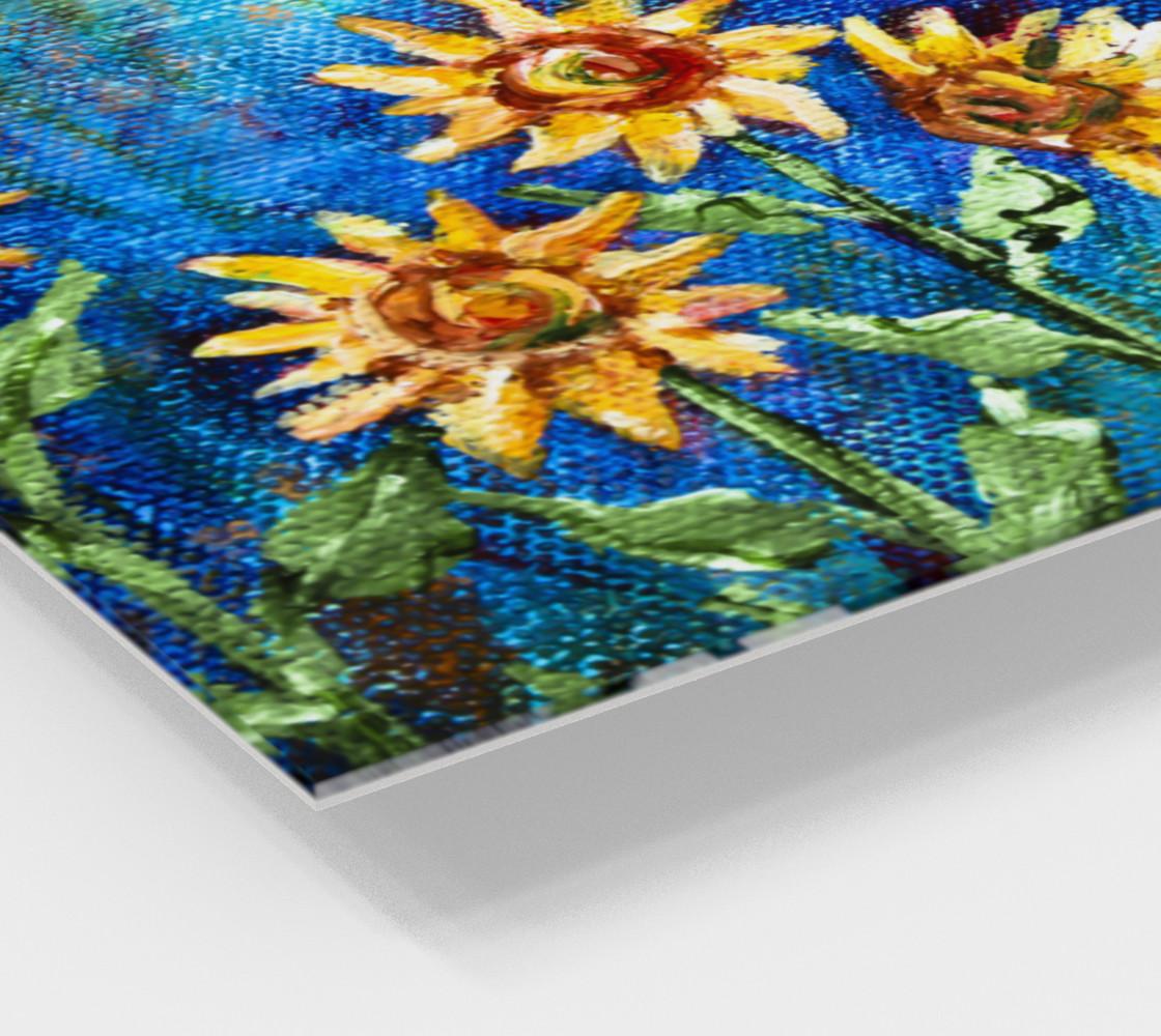Sunflowers Denim Wall Art preview #2